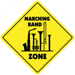 Marching Band Zone Sign