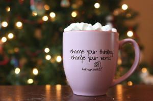 change, chocolate, christmas, cup, mug, quote