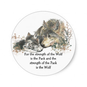 Wolf And Pack Family Quote