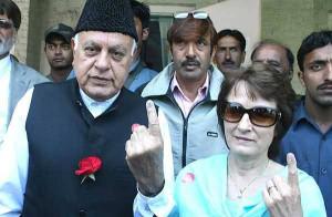 Farooq Abdullah And His Wife Moli Abdulla