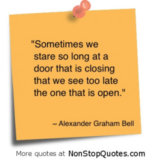 Open doors are everywhere ~
