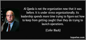 it was before. It is under stress organizationally. Its leadership ...