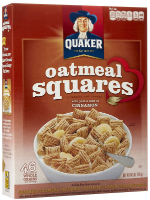 Quaker Oats Oatmeal Squares Cereal