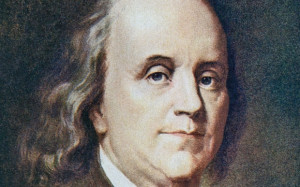 American statesman, printer, scientist, and writer Benjamin Franklin ...