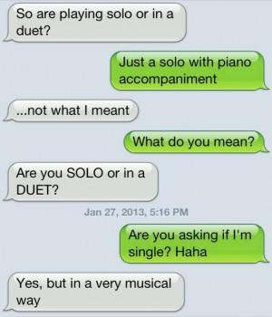 Band geek flirting...