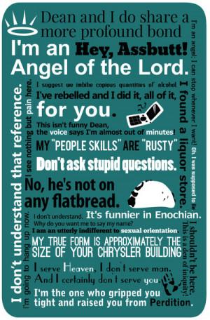 Supernatural - Castiel Quotes Art Print