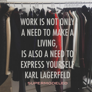 Karl Lagerfeld on work