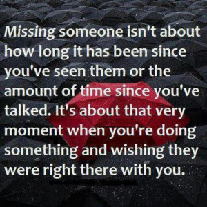 Missing someone...