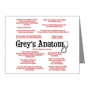 ... You Cards & Note Cards > Grey's Anatomy Quotes Note Cards (Pk of 10