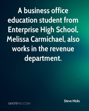 business office education student from Enterprise High School ...