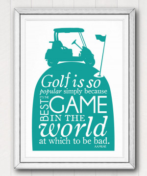 Funny Golf Sayings Printable golf quote poster