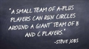 small team of A-plus players can run circles around a giant team of ...