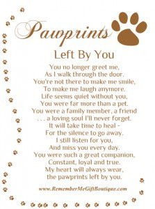 Quotes About Dogs Passing Away Memorial gift ideas