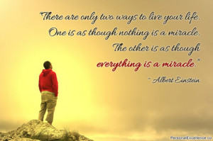Inspirational Quote ~ Albert Einstein