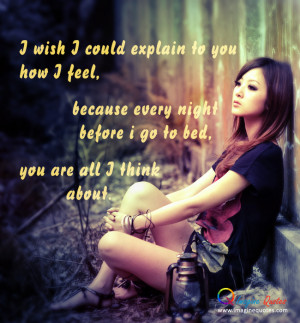 You are all I think about. Alone Quotes Love Quotes