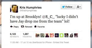 Kris Humphries punks Kanye West…again