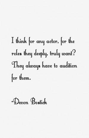 View All Devon Bostick Quotes