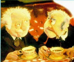 as it ends statler and waldorf the great muppet caper