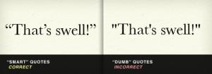 Smart quotes vs. dumb quotes