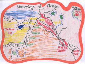 map of ancient hebrew civilization