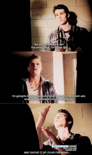 Teen Wolf funny moment and then Scott interrupts