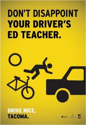 Tacoma posts safe-driving signs… Drive Nice, Tacoma