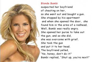 blonde bambi joke funny pictures revenge is sweet for blonde