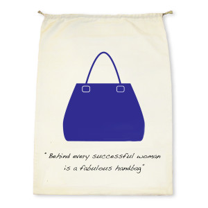 Drawstring Handbag Dust Cover Lite with Quote,
