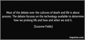 Most of the debate over the cultures of death and life is about ...