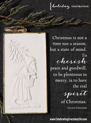 Cherish Peace Quote, Inspiring Christmas Quote, The meaning of ...
