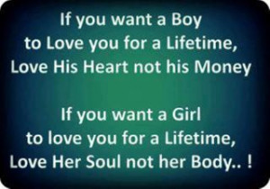 If you want a boy to love you for a lifetime, love his heart not his ...