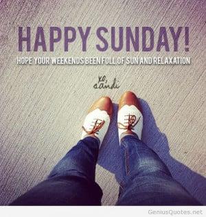 Tumblr happy sunday quote