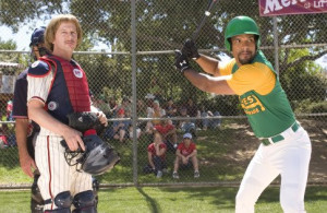 Still of David Spade and Amaury Nolasco in The Benchwarmers