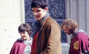 Colin Morgan on the Set of MERLIN, Series 5 (September)