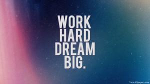 Big Quote High Resolution Wallpaper, Free download Work Hard Dream Big ...