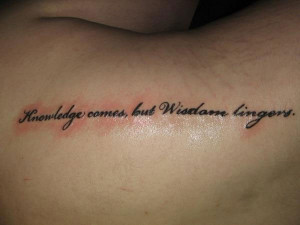 Wise Quote Tattoo