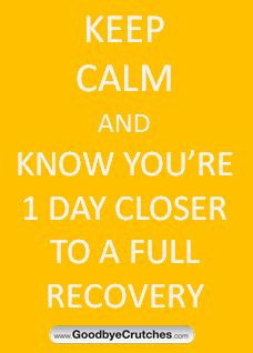 Recovery on one foot after surgery or injury can be challenging. Stay ...