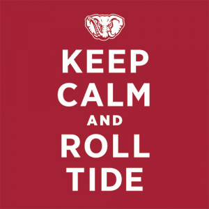 Alabama Crimson Tide Keep Calm and Roll Tide T-Shirt