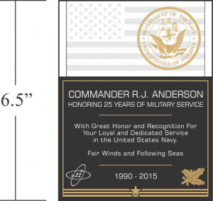Sample Navy Service Recognition Wording (#294-3)