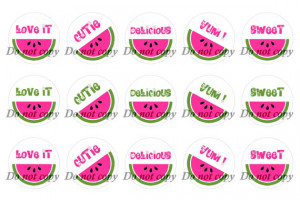 INST-D Watermelon Sayings Digital Images - Sheet of 4x6 - You Print ...