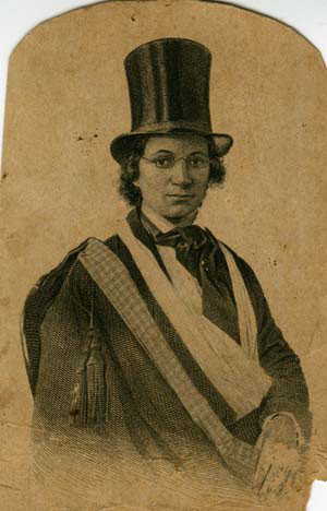 ... Ellen Craft dressed as a man, in the spirit of her escape from slavery