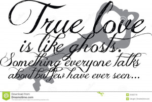 Royalty Free Stock Images: True Love Quote with key