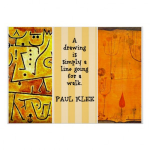 paul_klee_paintings_and_paul_klee_quote_poster ...