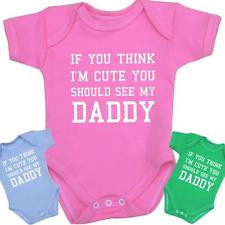 ... Baby Clothes Cute Daddy Bodysuits Vests Girls Boys Funny Slogan Gift