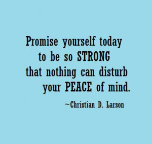 Peace of Mind Quotes with Images - Picture - Photos - Promise-yourself ...
