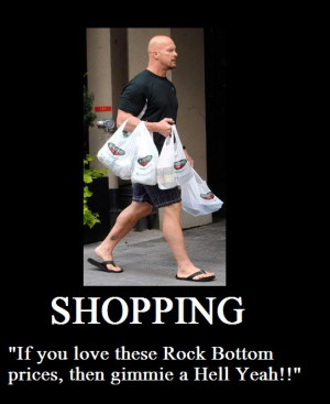 Stone Cold Steve Austin Shopping
