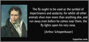 The fly ought to be used as the symbol of impertinence and audacity ...