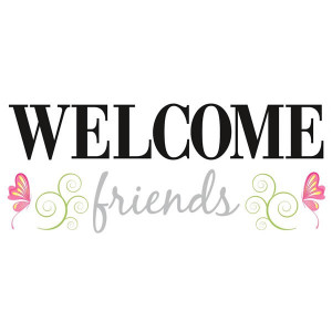 Welcome Friends Wall Sticker Quotes by RoomMates