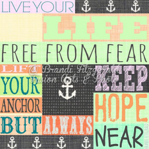 Anchor Quote Rainbow Colors Inspirational Quote Choose Lustre Print ...