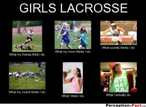 GIRLS LACROSSE What my friends think I do. What my mom thinks I do ...